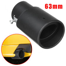 63mm Universal Stainless Steel Car Exhaust Inlet Tips Muffler Pipe Tail Black