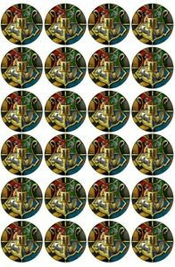 24 Hogwarts stickers, Houses combined. HP⚡  4.5cm Round  24 or 12