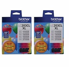 Brother LC203-3PKS Combo Pack Ink High Yield (3x 550 Yield)(C/M/Y) - 2 pack