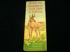 Vintage Official Wyoming BLM Hunting Public Land Rules Regulations Brochure A15