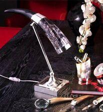 Lampada da scrivania in corno e argento Petri Firenze