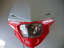 Ufo Road Legal Red Headlight Enduro Streetfighter Crf250  Xr Crf Mtx Xlr Crf450