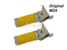 Simson SET Soziusfußrasten gelb mit Kappe verzinkt S50 S51 S53 S70 S83 KR51 SR4-