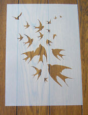 Birds in Flight Swallows Stencil Mask Reusable Mylar Sheet for Arts & Crafts