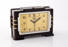 ORIGINAL ART DECO TISCHUHR JAZ BAKELIT WECKER ALARM CLOCK TABLE CLOCK