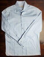 Ermenegildo Zegna Men's Long Sleeve Button Front Shirt Blue Striped Size L