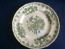 "Masons Fruit Basket green 8 7/8"" salad / dessert plate (small red paint mark)"