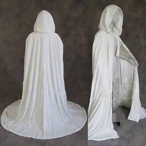2021 Hot Cloak Hooded Velvet & Satin Cape Renaissance Clothing Medieval Costume