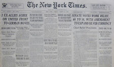3-1935 March 24 Mussolini Calls More Men To Arms. Ex Allies Agree United 80th