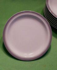 Set of 8 vintage Buffalo China Gray Grey Airbrush edges Lunch Salad Plates 7 1/8