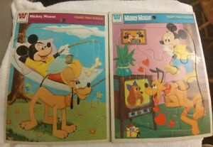 Vintage Mickey Mouse Frame Tray Puzzles, 2