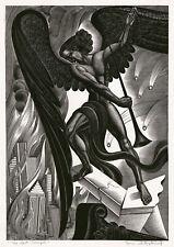 BORIS ARTZYBASHEFF, 'THE LAST TRUMPET', Woodcut Society, signed, 1937