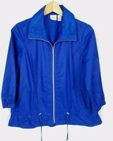 Chico's Zenergy Women's 1 Medium 3/4 Sleeve Royal Blue Activewear Jacket