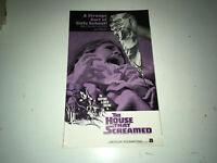 HOUSE THAT SCREAMED Original Movie Pressbook 1971 Horror Narciso Ibáñez Serrado