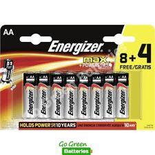12x Energizer AA MAX Alkaline Powerseal Batteries LR6 MN1500 MIGNON *FILM OFFER*