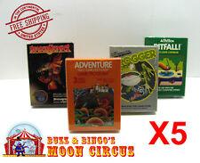 5X  ATARI 2600 CIB GAME BOX -CLEAR PLASTIC PROTECTIVE BOX PROTECTOR SLEEVE CASE