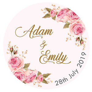Personalised Wedding Mehndi Stickers Labels Thanks GLOSS, MATT, GOLD FOIL