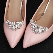 Mode pedrería cristal metal zapato clips joyas hebillas boda fiesta zapato