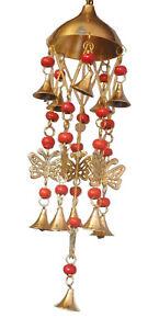 Butterfly Wind Chime Handmade Brass Beaded Wall Hanging Bell Home Garden Decor