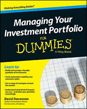 NEW Managing Your Investment Portfolio For Dummies - UK by David Stevenson
