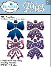 Elizabeth Craft Designs Cutting Die Set ~ FOUR BOWS Patterned, Decorative ~798