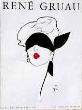 Rene Gruau≈Le Rouge Baiser Paris 1948≈Editions du Desastre Art POSTER 24x32