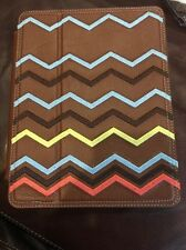 New Missoni For Target Zig Zag IPad 2 Cover Or Tablet Brown Leather Chevron