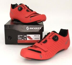Scott Road Comp Boa Bike Cycling Shoes Matte Red Men's Size 48 US / 13 EU