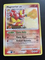 Magmortar 31/132 Holo Rare Diamond Pearl Secret Wonders Pokemon Card Holo Bleed