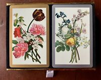 Vintage CONGRESS Cel-U-Tone Playing Cards Floral Flowers Deck Set Gift Quality
