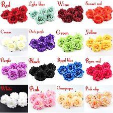 12cm Silk Rose Flower Head Artificial DIY Wedding Home Garden Decor Party Supply
