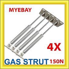 4 X Cabinet Gas Strut Spring Overhead Lid Kitchen Door Flap Stay Handle 150N