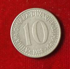 Münze Coin Jugoslawien Jugoslavija 10 Dinar Dinara 1988 (H6)