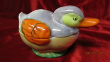 Japanese Lustre Ware Covered Duck Dish