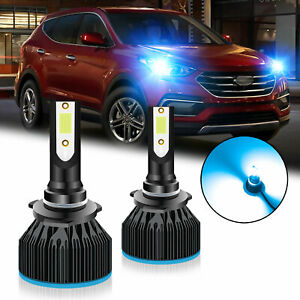 9005 HB3 Ice Blue FAN LED Bulbs Headlight High Beam for Hyundai Elantra Sorento