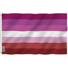 Anley Fly Breeze 3x5 Foot Lesbian Pride Flag Canvas Header and Double Stitched