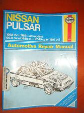 1983-1986 NISSAN PULSAR HAYNES REPAIR MANUAL SERVICE 84 85