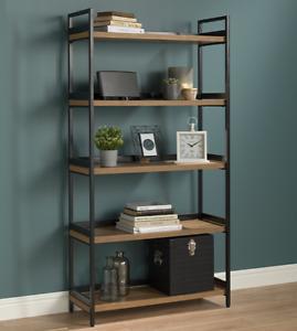 5 Tier Contemporary Industrial Bookshelf/Shelving Unit Oak finish 1750mmH