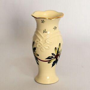 Lenox Winter Greetings Bud Vase 5 Inch Holly Berries Christmas Gold Trim
