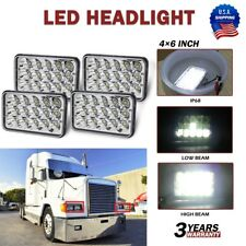 4x Led Headlights For Freightliner Fld120 Fld112 4x6 Light Hilo Sealed Beam Fits Mustang