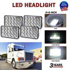 4X LED Headlights For Freightliner FLD120 FLD112 4x6'' Light Hi/Lo Sealed Beam