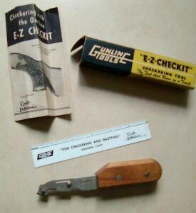 GUNLINE TOOLS E-Z-CHECKIT GUN CHECKERING TOOL SET Gunsmithing #20 tip
