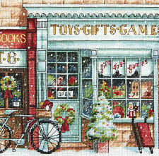 Cross Stitch Kit ~ Gold Collection Old Fashioned Christmas Toy Shoppe #70-08900