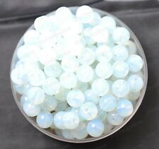 20pcs White Opal Gemstone Natural Gemstone Round Spacer Loose Beads 8MM #4