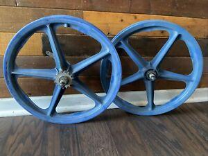 "BLUE SKYWAY TUFF 1 WHEELS 20"" Old School BMX Mongoose Hutch GT Redline"
