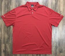 Nike Golf Dri Fit Polo Size 2XL Red 373749 648 Polyester Men's XXL Shirt