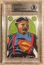 Sloth The Goonies 80's Superman Original Art Sketch Card Beckett BAS True 1/1