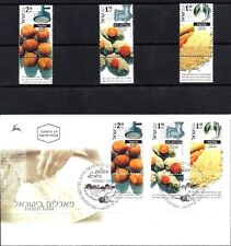 Israel 2000 Stamps + FDC ISRAELI FOOD - COUSCOUS, FALAFEL, GEFILTE FISH. MNH.XF.