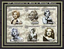 2002 MOZAMBIQUE -40° Aniversário Morte de Marilyn Monroe - folha ND- MNH #4043