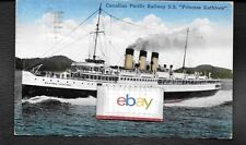 CANADIAN PACIFIC RAILWAYS PRINCESS KATHLEEN 1934 SEATTLE/VICTORIA  POSTCARD